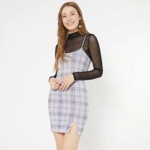 Rue 21 Lavender Plaid Mini Dress